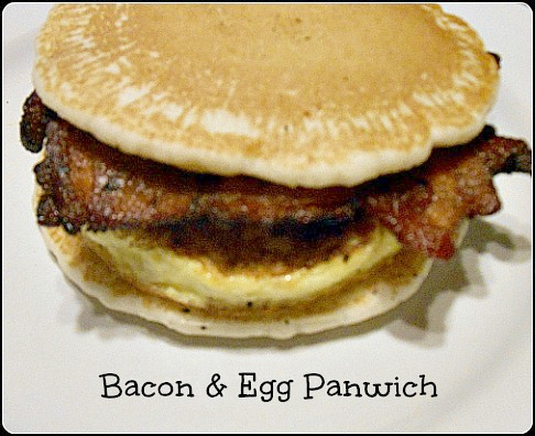 This bacon, egg and pancake sandwich is perfect for any time of the ...