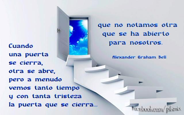 Cuando una puerta se cierra ● Frases ● Escalera, cielo
