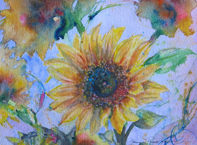 Watercolor Abstract Sunflower This is an Abstract Sunflower