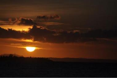 Cuando el sol se descuelga en Cuba.