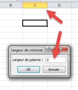 largeur de colonne=0