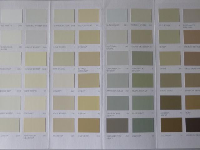 farrow and ball colour chart