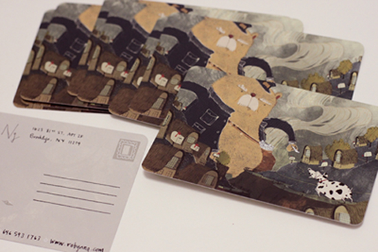 illustrator postcards with round corners printed by gotprint