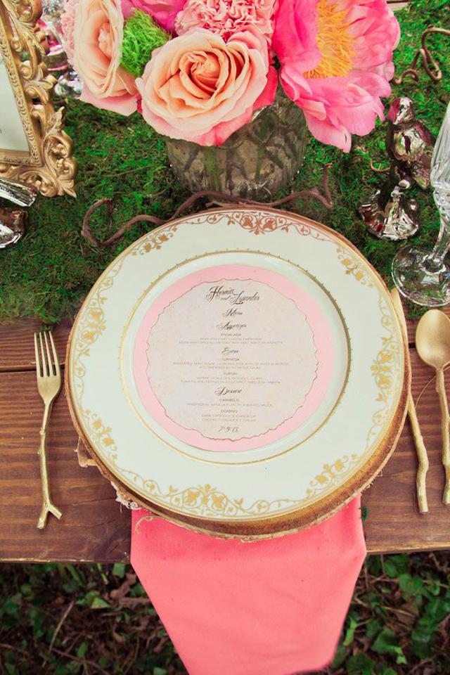 boda verano mesa flores rosa pink wedding table deco