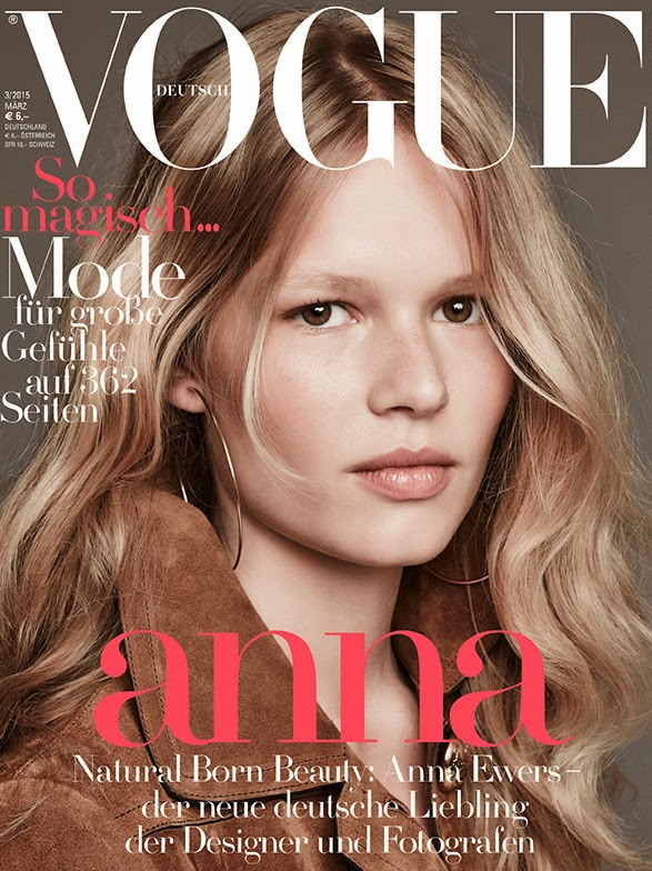 Model: Anna Ewers by Patrick Demarchelier for Vogue Germany