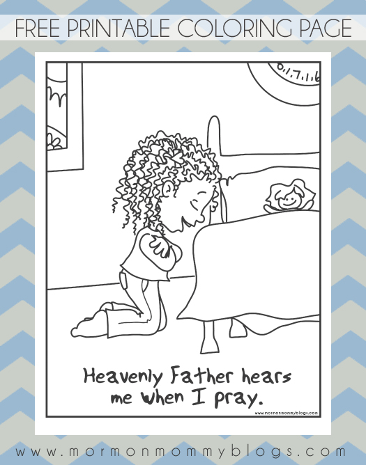 he hears me when i pray free coloring page mormon mommy blogs - Lds Primary Coloring Pages Prayer