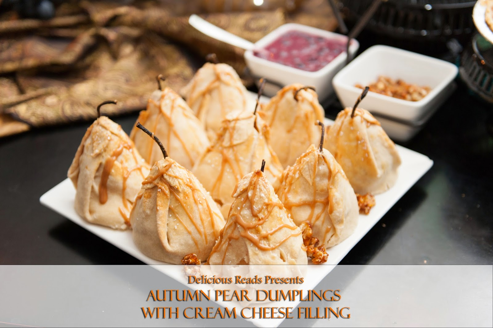 cream cheese stuffed pear dumplings