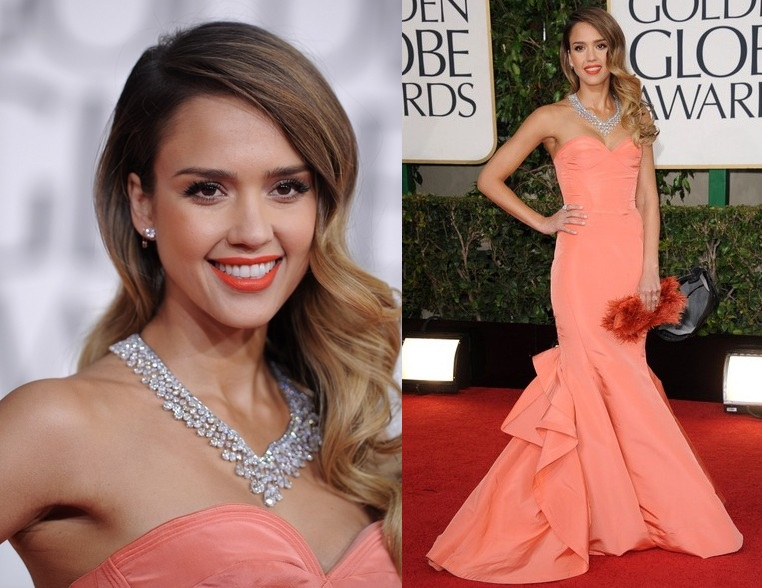 Jessica Alba Hairstyle at 2013 Golden Globe Awards