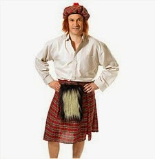 Scots Kilt and Hat Wig