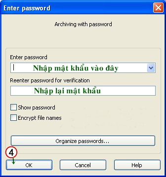 Soft tips Hướng dẫn tạo mật khẩu cho file nén bằng Winrar