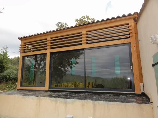 Extension Bois Autoconstruction : Architecture bioclimatique: Extension panoramique en bois ? Callian