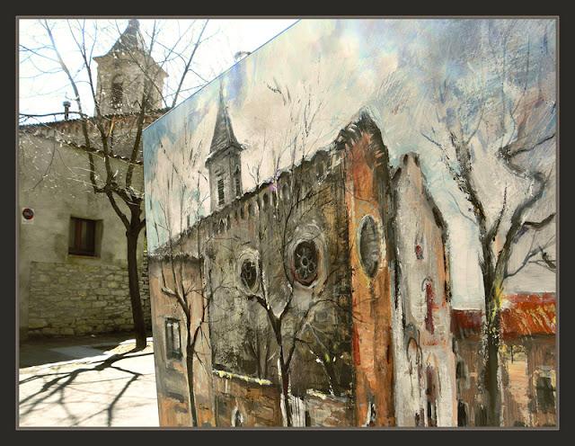SANT JULIA DE VILATORTA-PINTURA-ESGLESIA-FOTOS-QUADRES-PINTOR-ERNEST DESCALS-