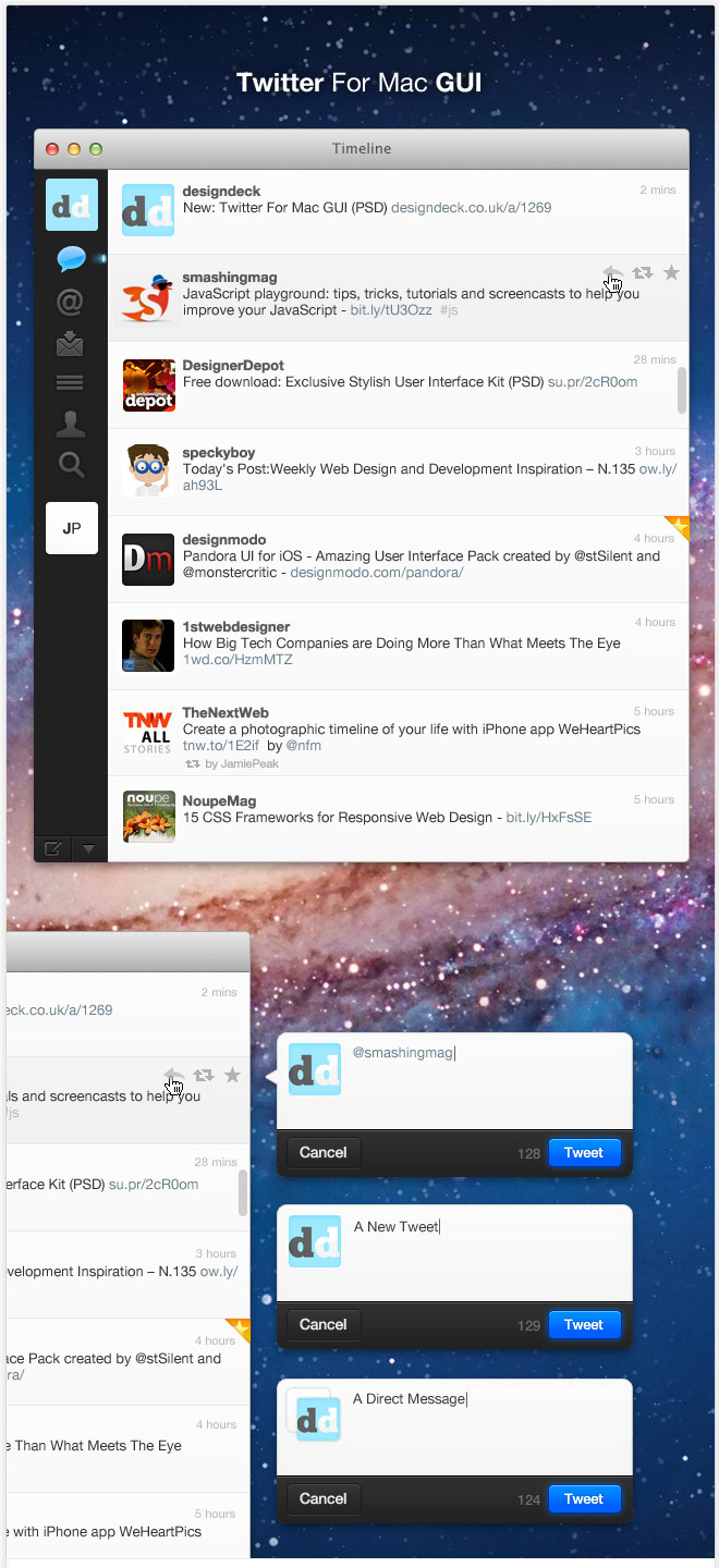 Twitter User interface (UI) Concept for Mac