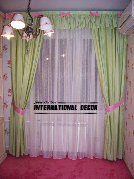 green girls curtains, girls bedroom curtains