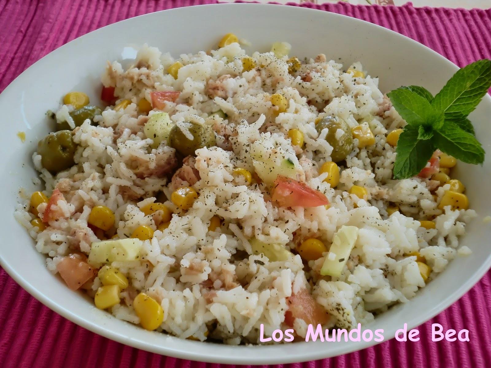 Los mundos de bea ensalada fresca de arroz basmati y at n - Ensalada de arroz y atun ...