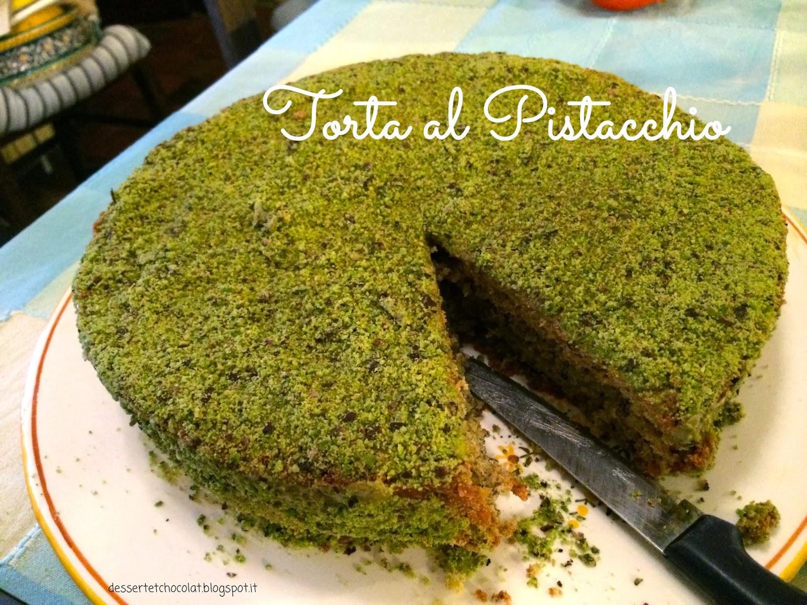 Ben noto Dessert et Chocolat: Torta al pistacchio con crema di pistacchio NN75