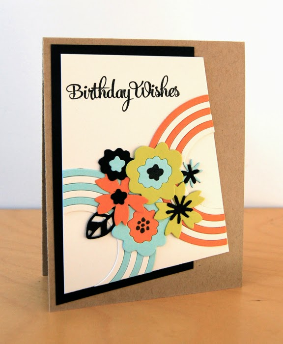 I Stamped The Birthday Sentiment From Happy Birthday In Black Ink. I Matted  The Cream Panel With Back Card Stock And Adhered It To A Kraft Card Base.
