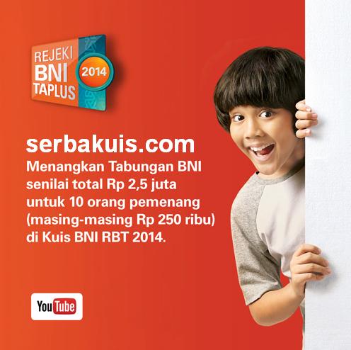 Kuis Tebak Logo BNI RBT 2014 Berhadiah Tabungan Rp 2.500.000