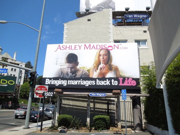Ashley Madison marriages back to life billboard