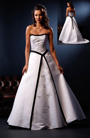 Black and white wedding dress decoration designs wedding for White dresses for wedding