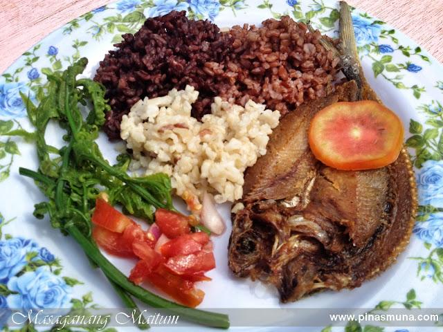 rice and fried flying fish bangsi typical breakfast in Maitum Sarangani