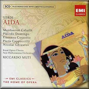 Verdi Aida Montserrat Caballe, Placido Domingo, Riccardo Muti