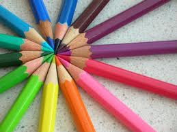 This is a circle of colored pencils.