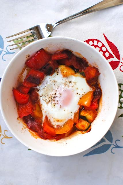 recept, brunch, ägg, ratatouille, gordon ramsay, ägg, zucchini, paprika