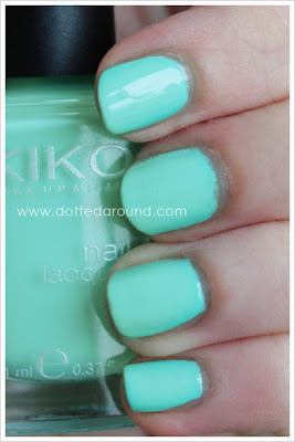 Kiko smalto 389 Lattementa verde acqua swatch swatches