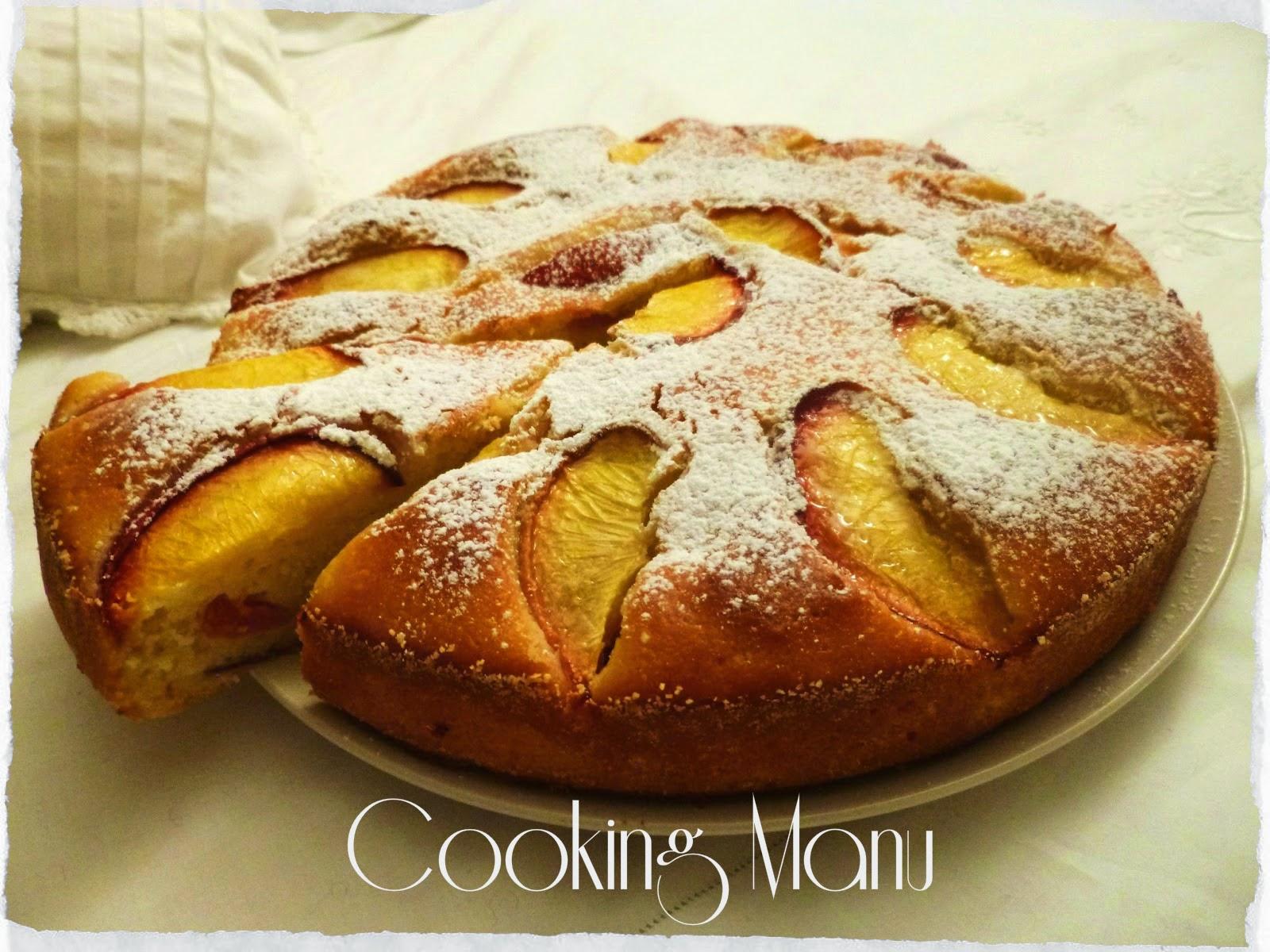 torta di pesche (peach cake)