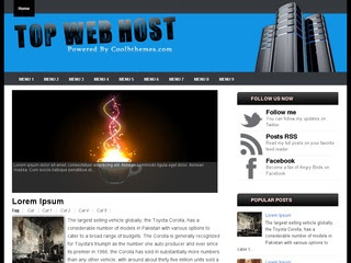 Top Web Host Blogger Templates