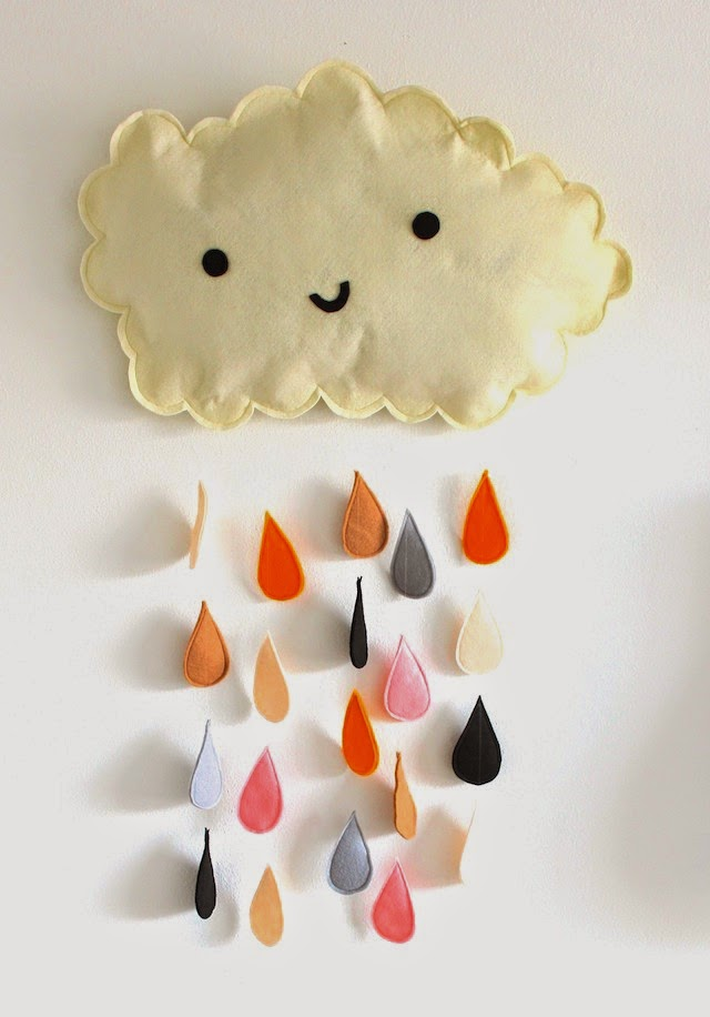 Happy Cloud Felt Wall Mobile DIY Tutorial