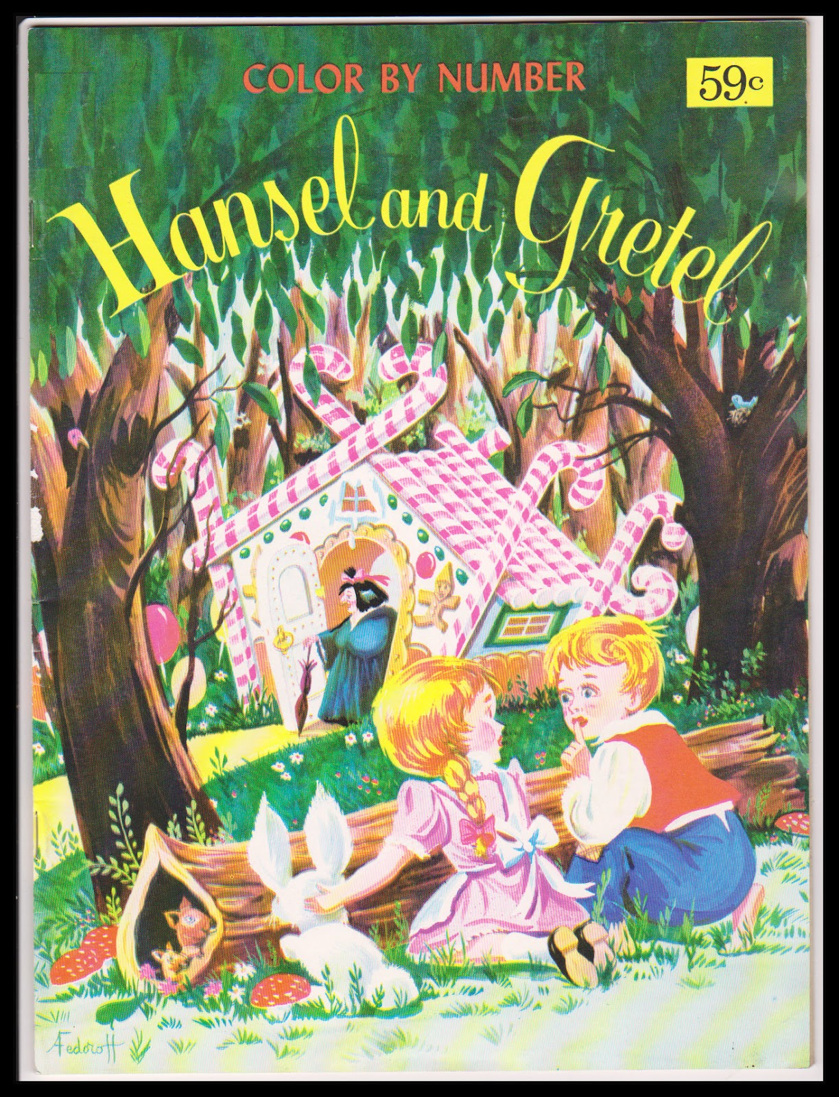 My Vintage Books & Other Finds: Color By Number Hansel and Gretel