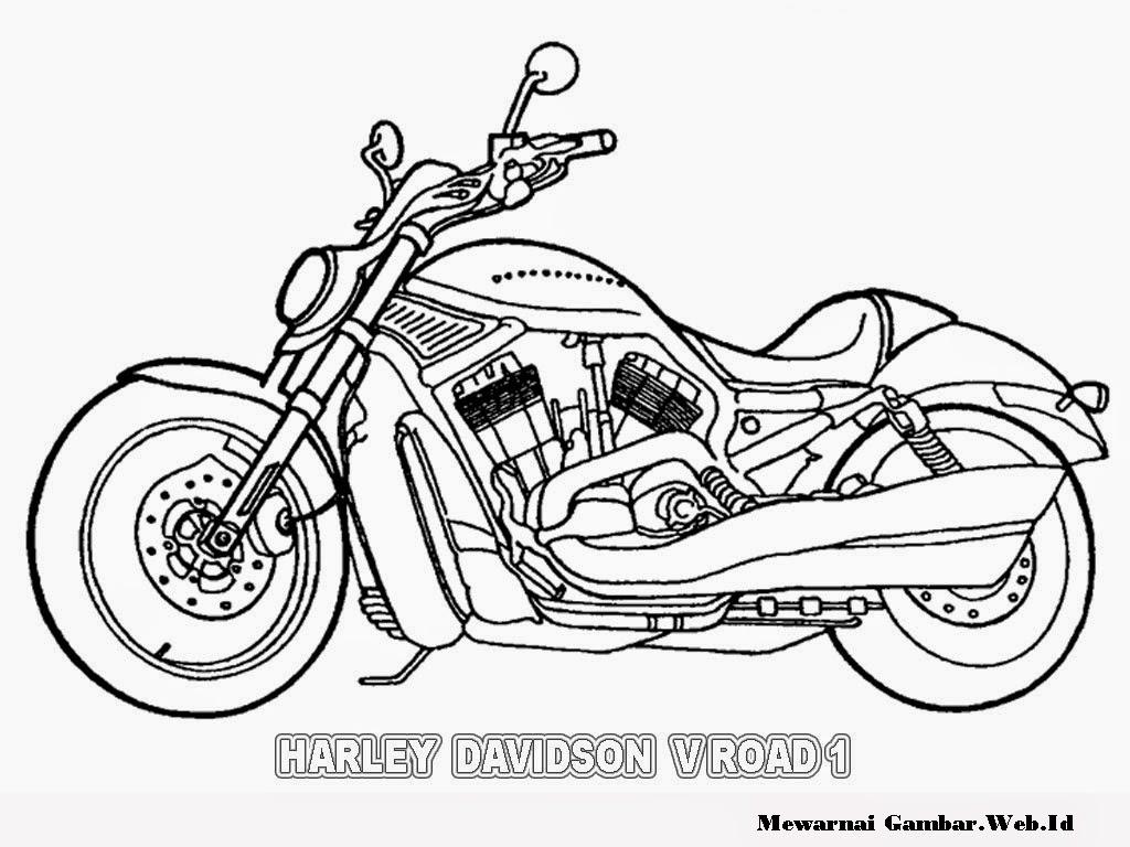 gambar kartun harley davidson v road 1