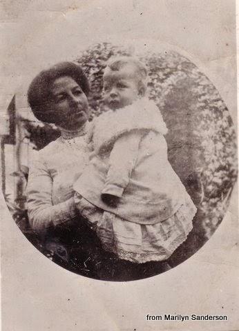 Margaret McLoughlin holding baby son Vince 1911