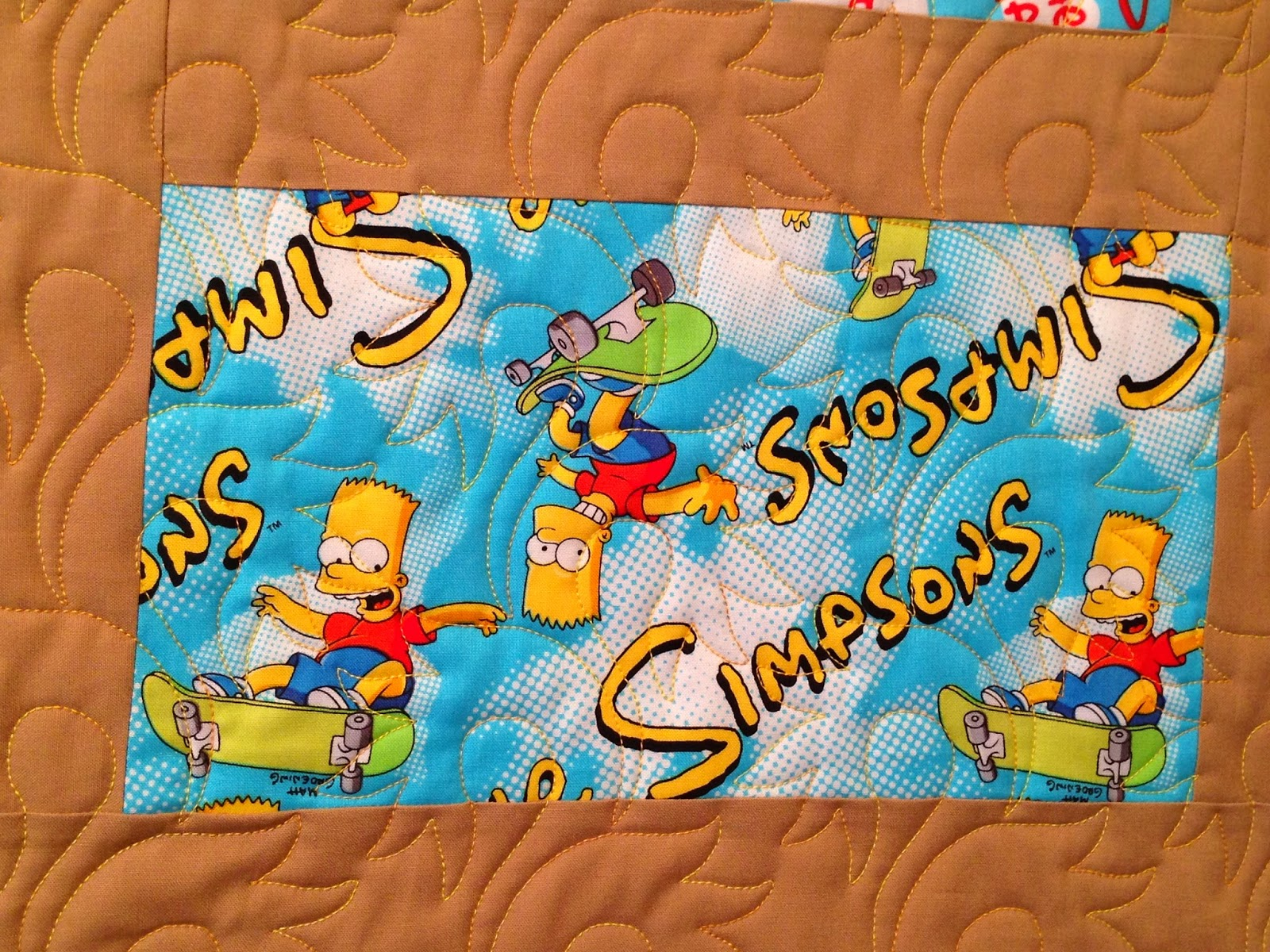 Cheryl Cohorn's Simpsons Quilt