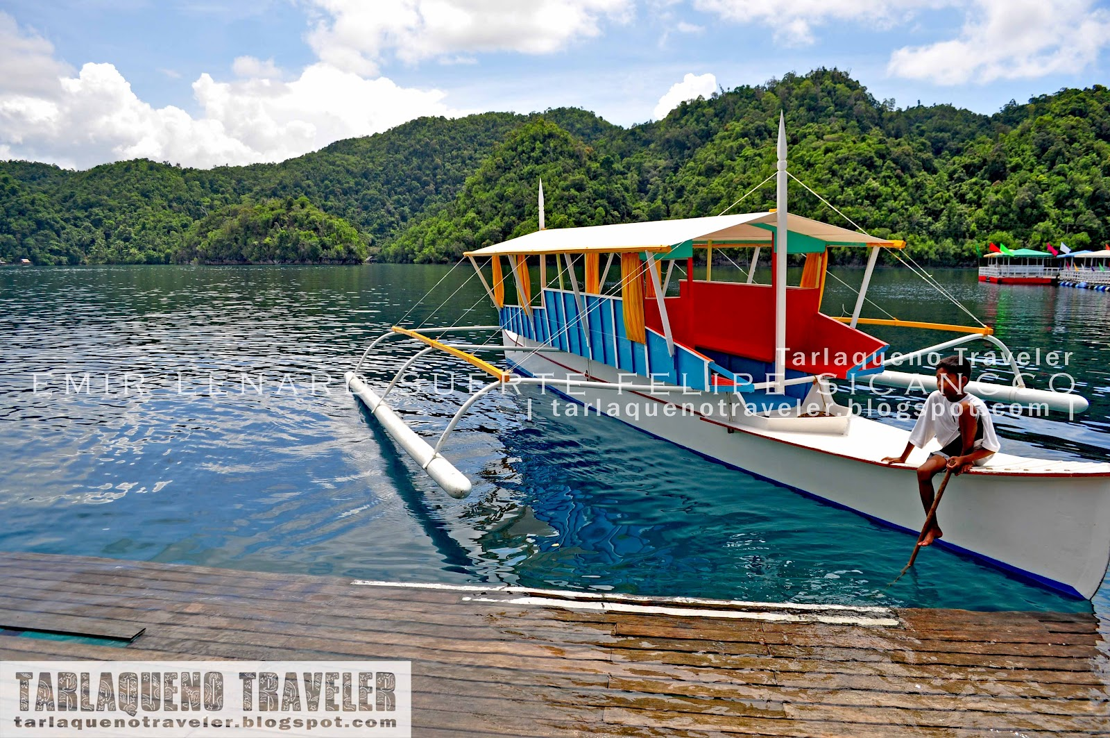 Our boat at Hidden Island Resort