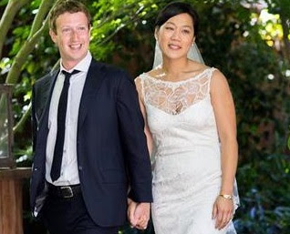 married photo of Facebook's Mark Zuckerberg and Priscilla Chan