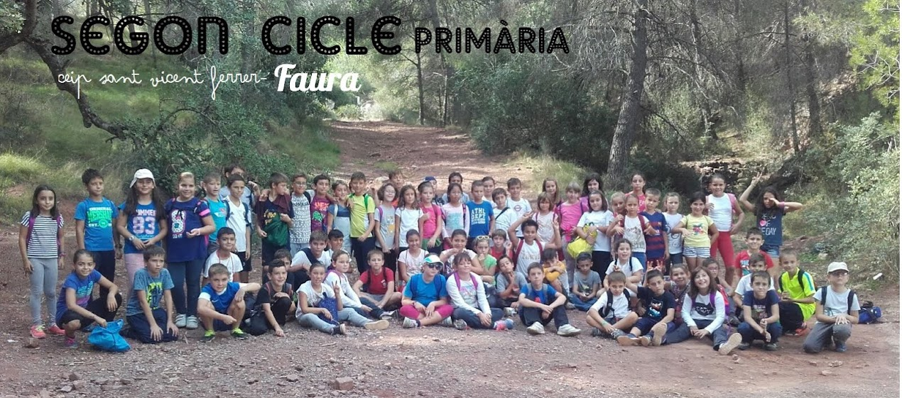 SEGON CICLE DE PRIMÀRIA  CEIP SANT VICENT FERRER-FAURA