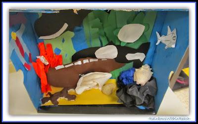 Ocean Theme Dioramas from Ocean RoundUP at RainbowsWithinReach