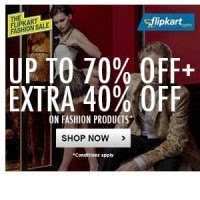 Flipkart fashion offer: fashion deals upto 74% off + extra upto 40% off on clothing, Footwear, watches and accesories