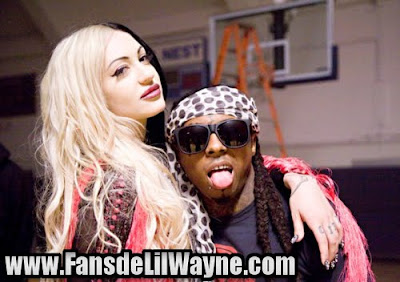 fotos de lil wayne y porcelain black en el rodaje de this is what roock n roll looks like