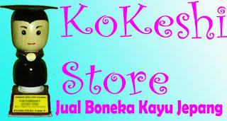kokeshi store jual boneka kayu jepang