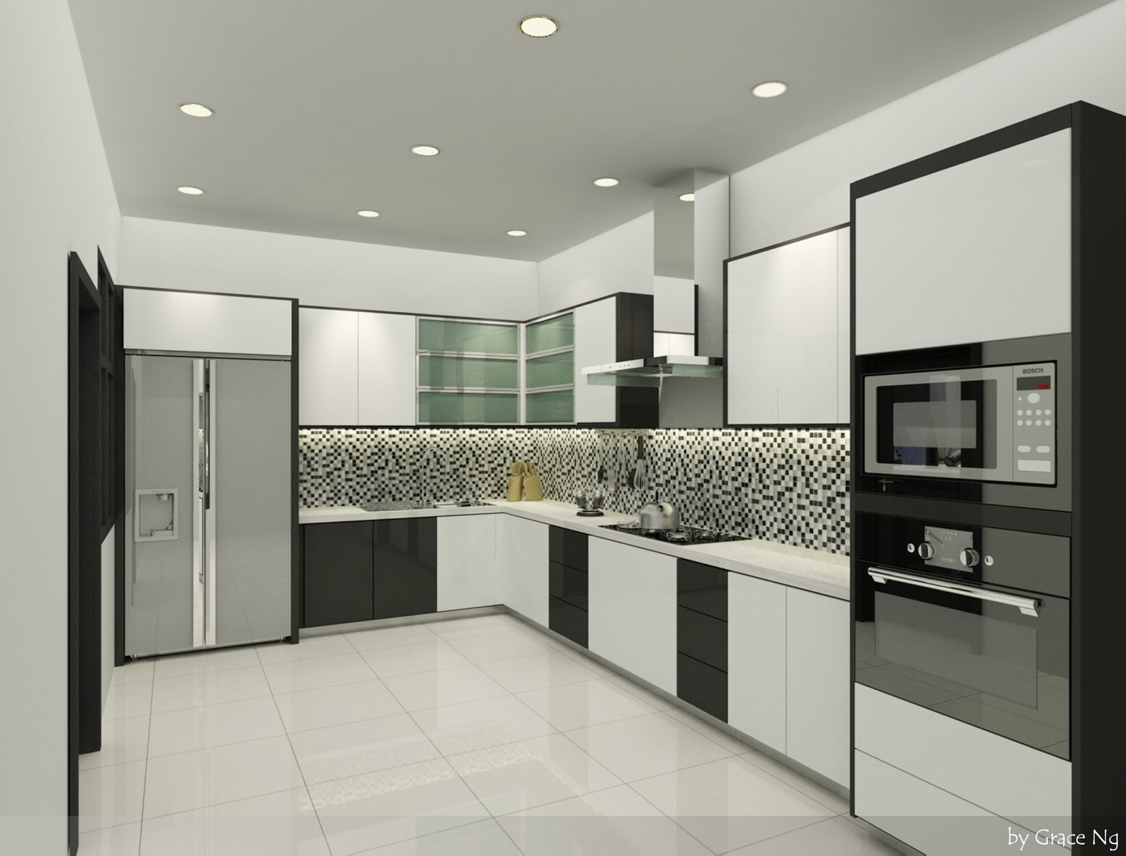 Interior 3d visualized design proposed interior for Dry kitchen ideas