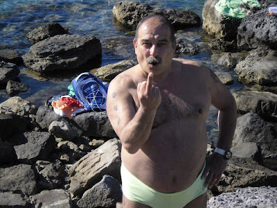 gay on beach - gay fat bear - gay old man