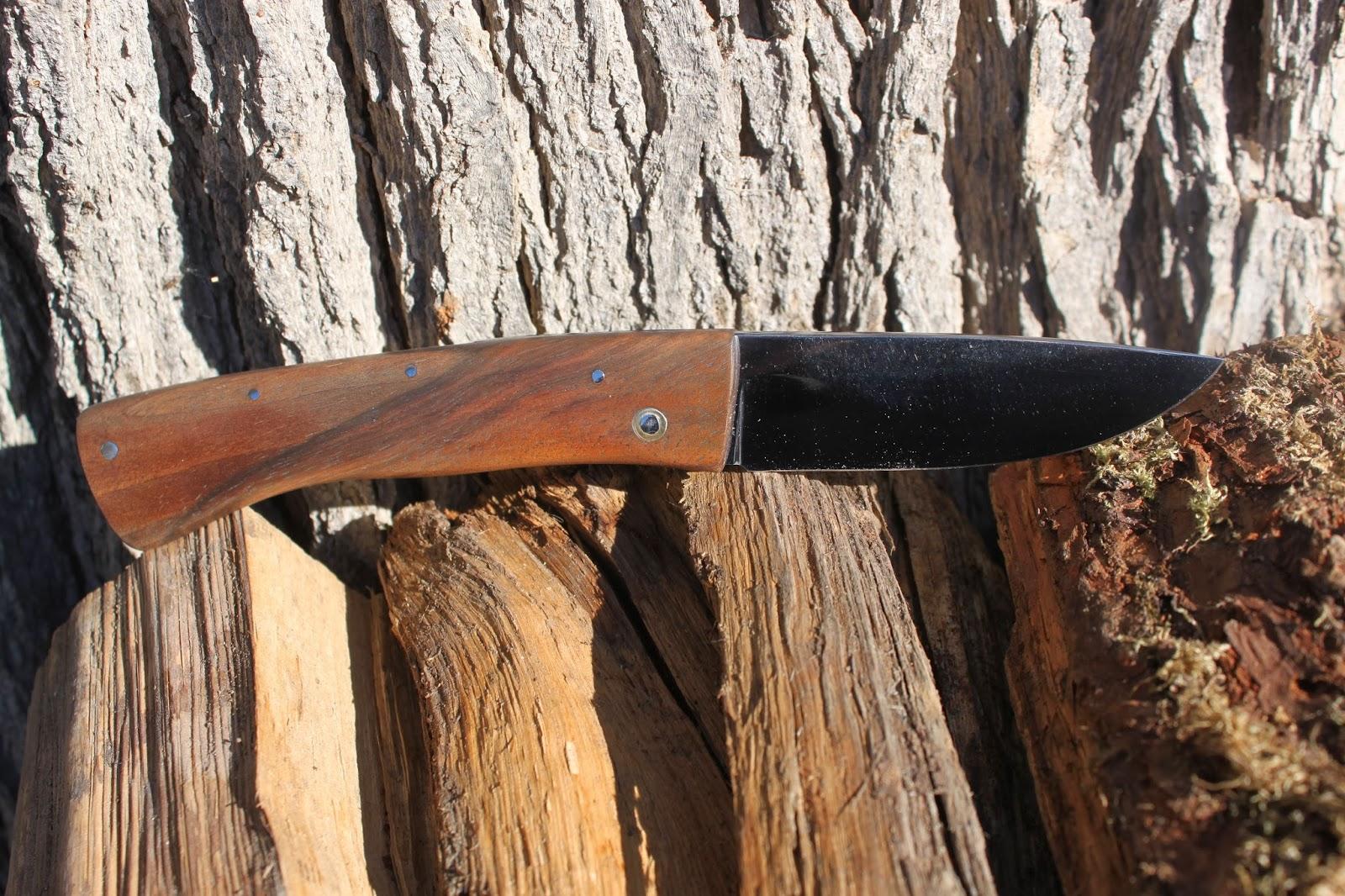 DE FER ET DE BOIS Couteau pliant Piemontais N°1 ~ Bois Tres Leger