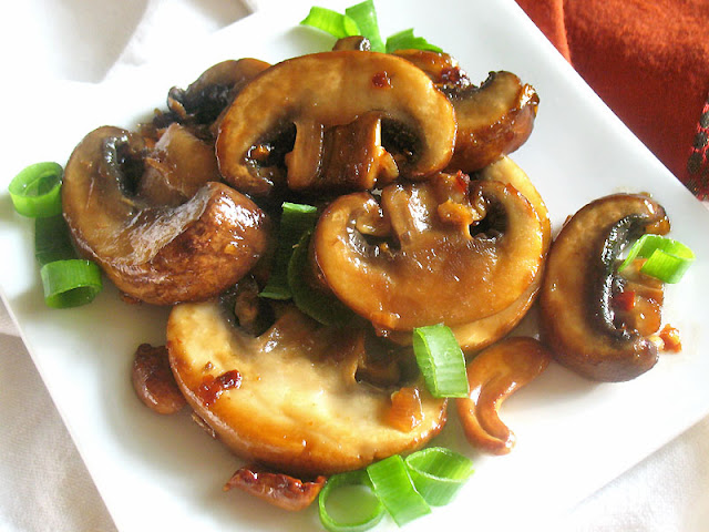 Teriyaki Mushrooms and Cashews