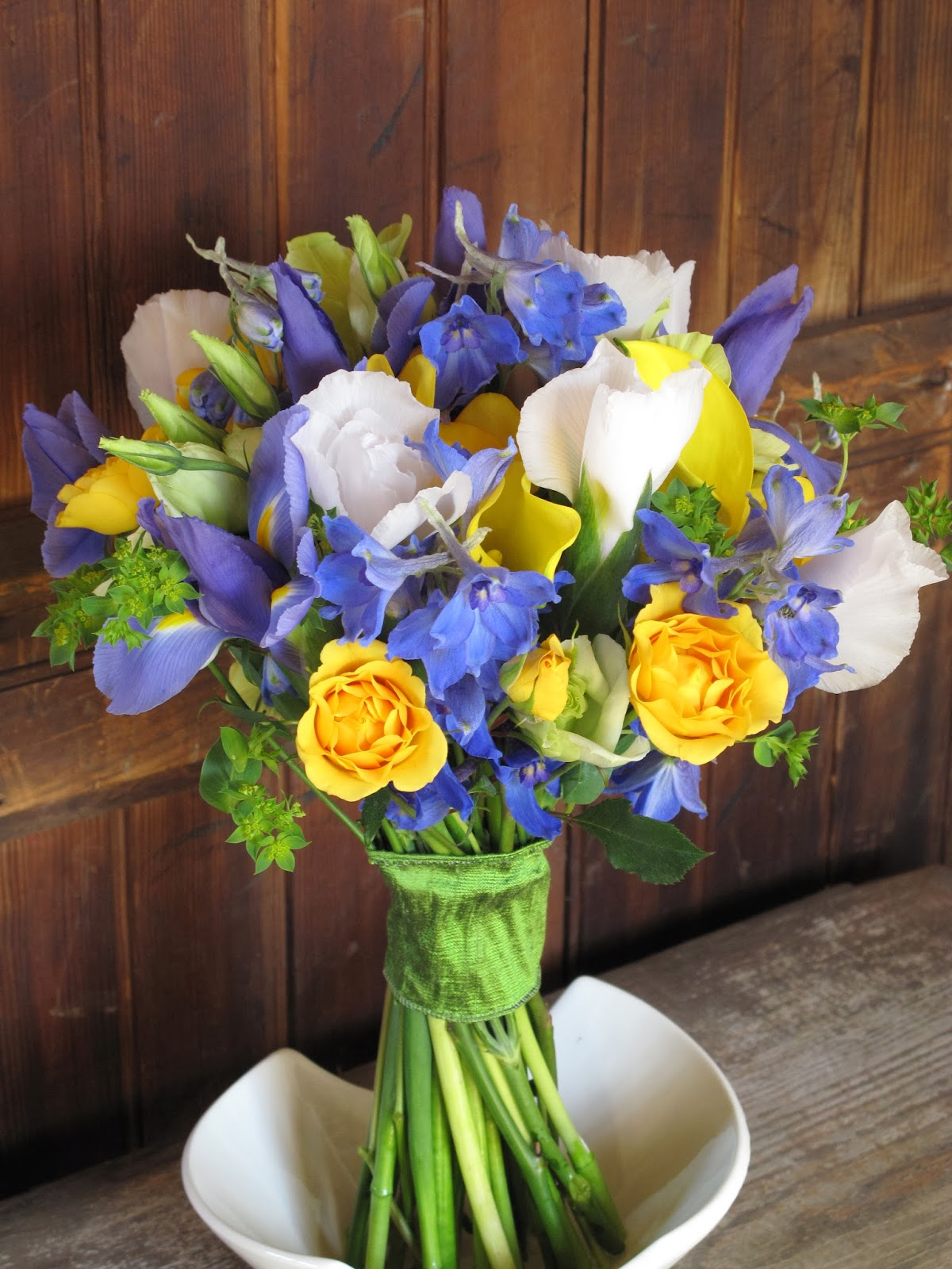 Blue and yellow flower centerpieces book covers