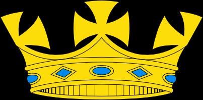 Dibujo HERLDICO Corona de rey de armas britnica