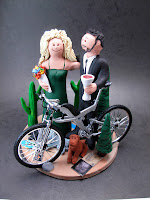 cyclists wedding cake toppers